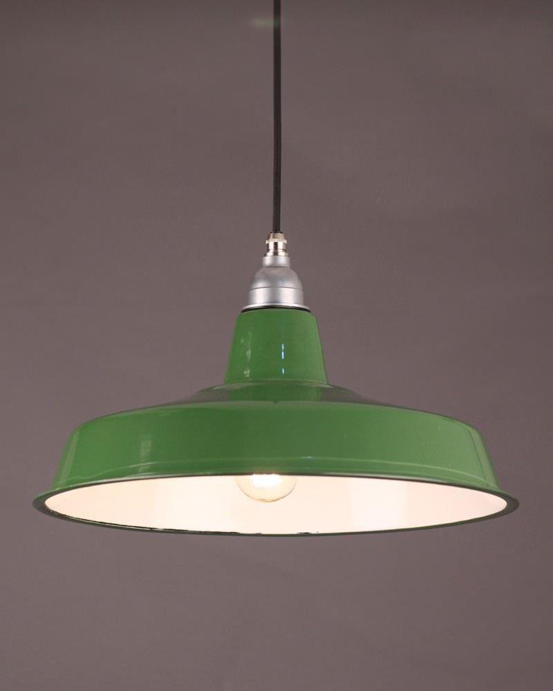 Industrial Pendant Lighting Industrial Green Enamel Pendant Light