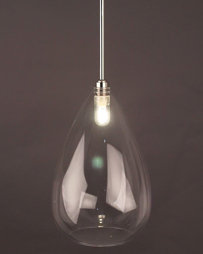 Teardrop Clear Glass Bathroom Ceiling Light Wellington