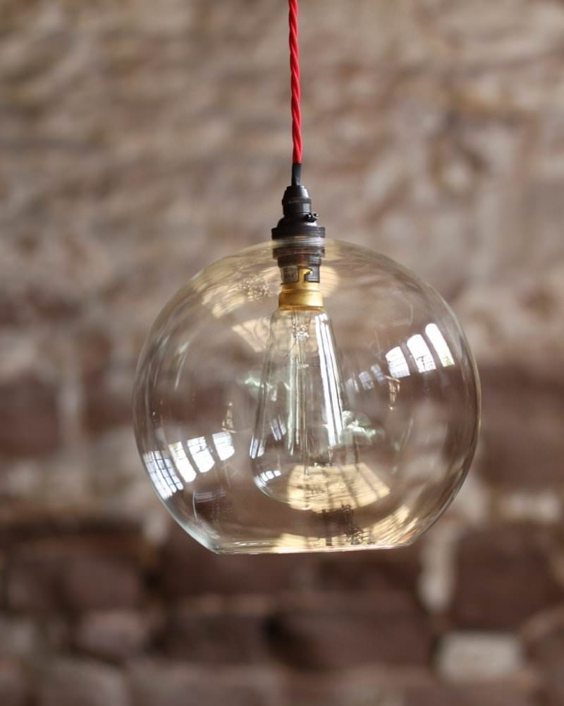 Glass Globe Pendant Light Nz Large Uk Clear Fixtures