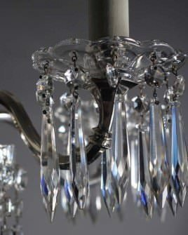 Chandelier lighting a period crystal silver plated chandelier with 5 b - Chandelier a 5 branches ...